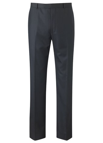 Austin Reed Contemporary Fit Navy Trousers SHORT MENS 32