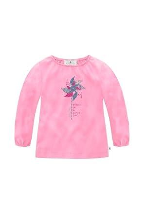 Bellybutton Kids Baby - Mädchen Langarmshirt Mit Raffung, Einfarbig, Gr. 80, Rosa (Rose)