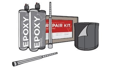 Crack Repair Kit - Unidirectional Repair Kit For Foundation, Wall, Basement, Pool, Concrete & Crack Repair (Carbon Fiber Repair compare prices)