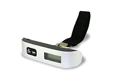 Accessory Village Portable Handheld Digital Luggage / Baggage Scale (Max . 50kg/110lb) With Auto Turn Off & Built InTemperature Monitor from Accessory Village