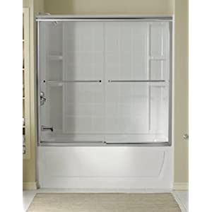 "Sterling 5907-59S Deluxe Bath Door 56-1/4""H x 54-3/8 - 59-3/8""W"