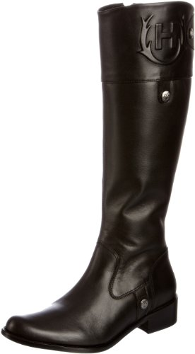 Hunter Women's Carlyle Leather Black Knee High Boots W24329 6 UK