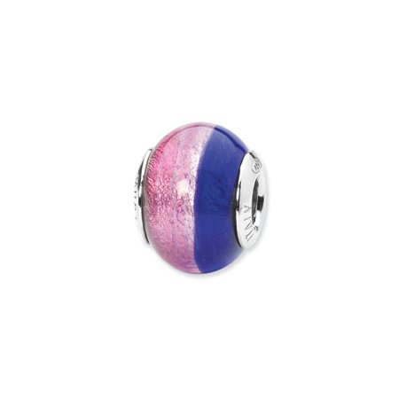Pink and Blue Murano Glass Charm