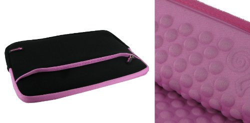 rooCASE Super Bubble Neoprene Sleeve Case for Acer AC700 Chromebook 11.6-Inch Laptop (Black / Pink)