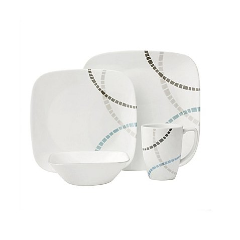 Corelle Boutique Mosaic Bands 16-Piece Dinnerware Set (32 Piece Corelle Dinnerware Set compare prices)