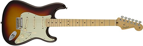 Fender American Deluxe Stratocaster Plus Electric Guitar with Maple Fingerboard and Hardshell Case - Mystic 3-Color Sunburst (Fender American Electric Guitar compare prices)