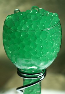 Green Water Gel Beads For Floral Arrangements