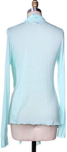 Active Basic Women's Basic Drape Front Shawl Cardigan Med Mint