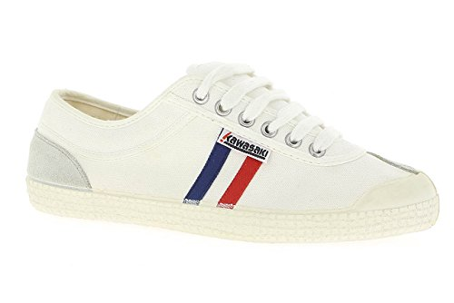 Kawasaki - Rainbow retro, Sneakers unisex, color Bianco (White/01), talla 43