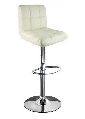 Cuban Cream Faux Leather Breakfast Kitchen Bar Stools