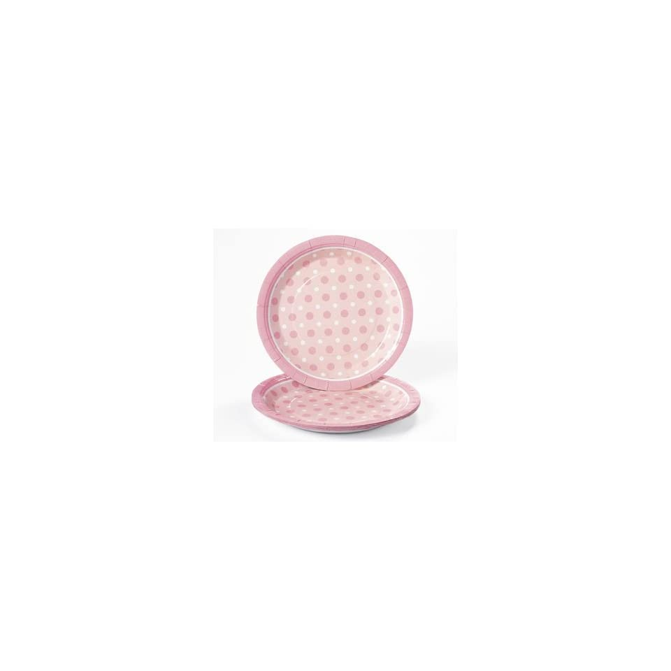 Pink Polka Dot Dinner Plates   Tableware & Party Plates
