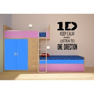 "Keep Calm And Listen To One Direction ~ One Direction: Wall Decal, Large 18.5"" X 23"" from Best Priced Decals"