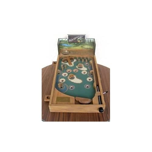 Old Century Pinball Golf Wood Wooden Table Top Pinball Machine (Game