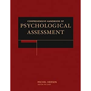 Comprehensive Handbook of Psychological Assessment, 4 Volume Set Michel Hersen