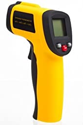 Non Contact - Infrared (IR) Thermometer (-58F - +1,022F) - Durable Digital Handheld W/ Pointer Sight - BATTERY INCLUDED!