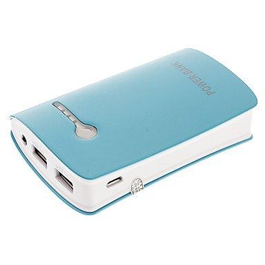 10400mAh MultiOutput Flashlight External Battery Blue for Photo