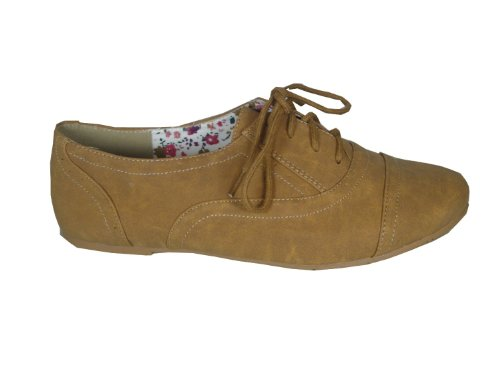 Nature Breeze Women Cambridge-03 flats-shoes Tan 8.5