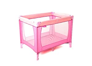 Red Kite Sleep Tight Travel Cot - Pink