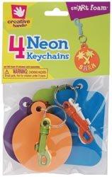 Fibre Craft Foam Keychains 4/Pkg Neon 299801; 6 Items/Order