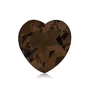 3.10 Cts of 10x10 mm AA Heart Smokey Quartz ( 1 pc ) Loose Gemstone