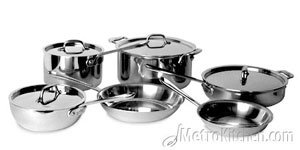 All-Clad Stainless 10 Piece Cookware Set 8&10 in. Fry Pans 501341
