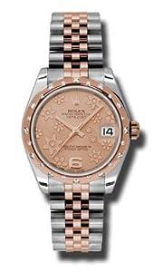 Rolex Datejust 31 Automatic Pink Champagne Dial Diamond Steel and 18kt Pink Gold Ladies Watch 178341PFAJ