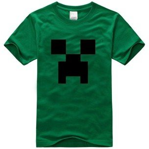 Minecraft T-shirt Green Size M Please Notice The Size by Victoria's Deco