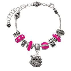 Chinese Dragon Hot Pink Juliet Beaded Bracelet [Jewelry] Delight
