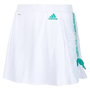 Adidas Ladies Roland Garros Climalite Tennis Skort Skirt - White by adidas
