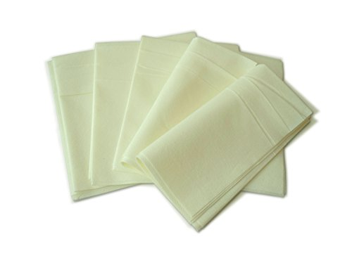 "#6011 – ""Linen Like"" Paper Dinner Napkins – Ivory/Pale Yellow color (40pcs)"