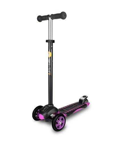 YBIKE GLX Pro Scooter, Black/Purple, 12cm