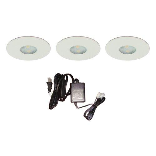 Dals 4001-Wh (3)12V Dc High Power Led Puck Kit White
