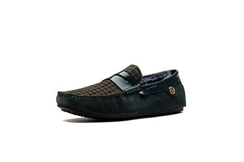 OPP Confort Suède Mocassins Loafers Loisir Chaussures Bateau Chaudes Hommes