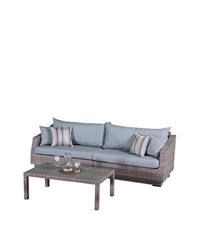 RST Brands Cannes 2-Piece Sofa, Blue