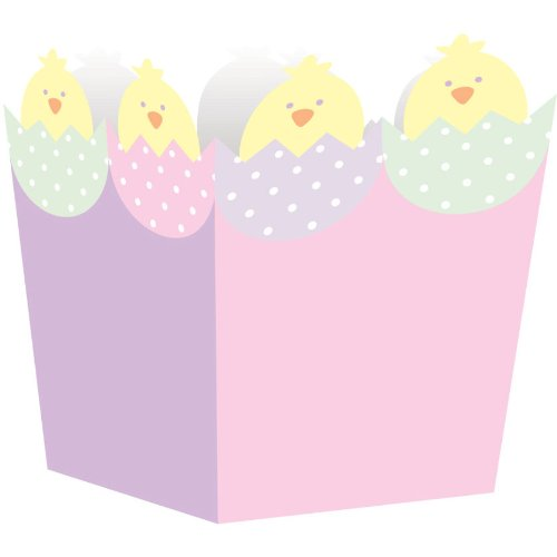 Easter Chick Head Treat Boxes 4 Pack