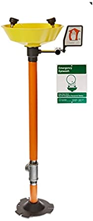 Guardian G1825P-YEL 2 Head Emergency Eye Wash Pedestal Mounted w/y