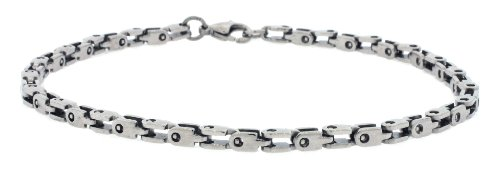 Men's Designer Polished Stainless Steel Link Chain Bracelet 10