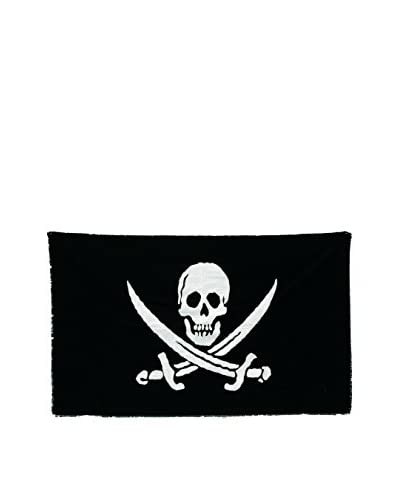 Seletti Jolly Roger Cotton Flag, Black/White