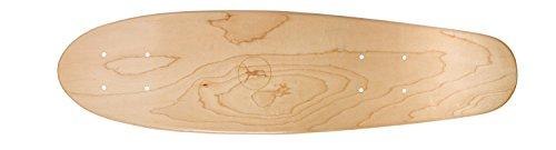 Ridge Skateboards Regal Series Premium Canadian Maple Laser Cut Mini Cruiser Deck Skateboard Deck, Marrone, 22 x 6 cm