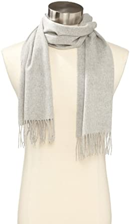Amicale Men's 100% Cashmere Scarf, Sterling, One Size