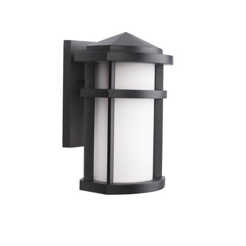 Kichler Lighting 9166GNT Lantana 1-Light Incandescent Outdoor Wall Mount Lantern, Granite with Etched Opal Glass