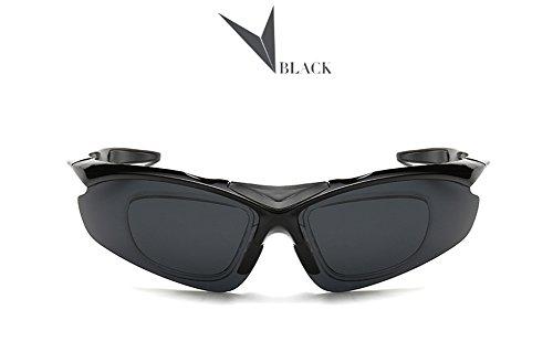 Cheap Ginasy Polarized Sports Sunglasses Wear Over Prescription Glasses-Large Slim- Polarized