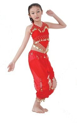 Chiffon Belly Dance Costume Set for Girls Kids Children