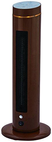 ZEPEAL ゼピール 人感センサー付きスリムセラミックヒーター(LEDランプ搭載/流水音付き) 1200W 自動首振り アロマ対応 ブラウン DKTC-A1215-BR