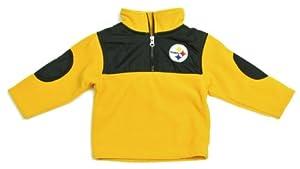 Pittsburgh Steeler Toddler 1 4 Zip Fleece Pullover Jacket by NFL-Kids