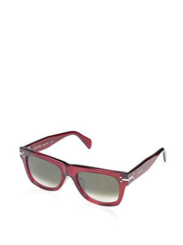 Céline Women's CL41046 Sunglasses, Transparent Red