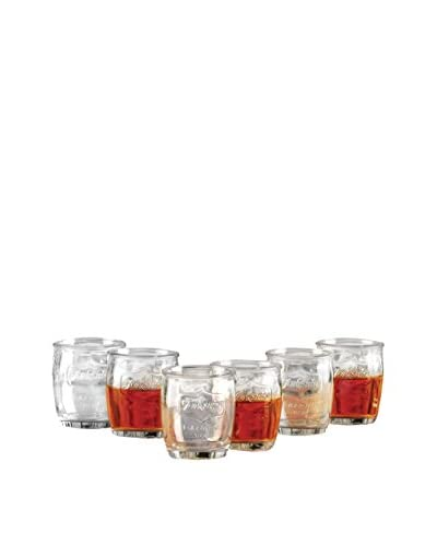 Circleware Set of 6 Yorkshire 3.4-Oz. Shot Glasses, Clear