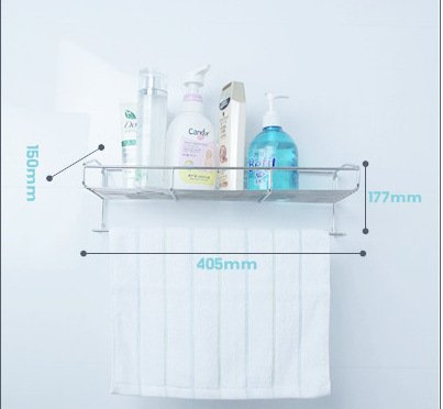 QUEEN'S Toilet Bathrooms Non-Marking Posted Stainless Steel Racks Bath Towel Rack Mount Towel Rack That Go Beyond The Suction Unit ,Wall Mounted Towel Bar,Bathroom Accessory
