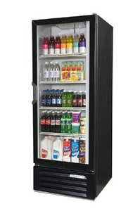 "White Beverage Air (Bev Air) LV27-1 LumaVue 30"" Refrigerated Glass Door Merchandiser with LED Lighti"