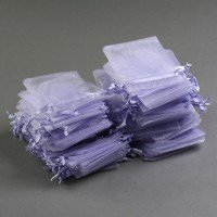 100 Pack Purple Organza Gift Bags by COCO